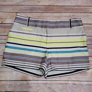 LOFT Colorblock Striped Shorts